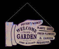 """Welcome to Our Garden"" Hand Shaped Wall Sign"