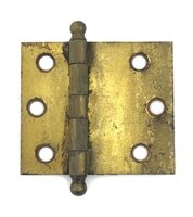"Antique Brass Cabinet Door Hinge - Uneven Leaf Size - 2-1/2"" x 2"" - Sold Each"