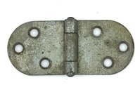 "Antique Set of Three Nickel Cabinet Hinges 3-3/8"" x 1-3/8"""