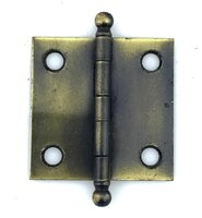 "Vintage Cabinet Hinges in Antique Brass Finish 1-1/2"" x 1-1/2"" - Sold Each"