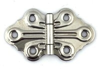 "Antique Chrome Plated Decorative Butterfly Hoosier Cabinet Hinge 2-7/8"" x 1-5/8"" Sold Each"
