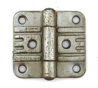 Antique Art Deco Nickel Kitchen Flush Mount Cabinet Hinges Circa 1950 - Sold Each