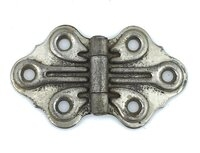"Antique Chrome Plated Decorative Butterfly Hinge 2-7/8"" x 1-5/8"" Sold Each"