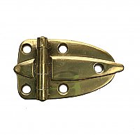 Antique Amerock Polished Brass Flush Mount Cabinet Hinge Circa 1950 - Sold Each