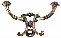 Antique Copper Plated Cast Iron Coat and Hat Hook - Circa 1890