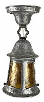 Antique Arts and Crafts Ceiling Lantern with Mica Shade