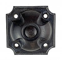 Antique Art Deco Black Bakelite Doorbell Button - Circa 1930