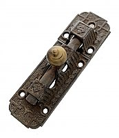 Antique Cast Iron Barrel Door Bolt by Sargent & Co. - Circa 1874