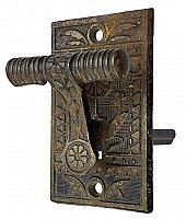 Antique Cast Iron Iron Door Bell Lever by Sargent & Co. - Circa 1880