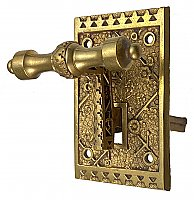 "Antique Mechanical Door Bell Lever in ""Ekado"" Design by Sargent & Co. - Circa 1888"