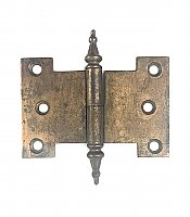 "Antique Bronze Steeple Tip Left Hand Lift-Off Parliament Door Hinges 3-5/8"" x 2-7/16"" - Sold Each"