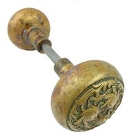 "Antique Cast Bronze ""Walsingham"" Pattern by Russell & Erwin Entry Door Knob Pair - Circa 1897"