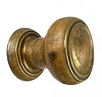Antique Cast Bronze Doorknob and Roses Set - Concealed Mounting - Circa 1940