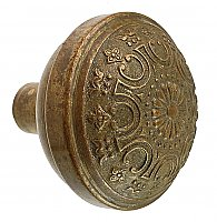 "Antique Wrought Bronze Door Knob in ""Etrurtian"" Design by Yale & Towne Co. - Circa 1899"