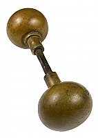 Antique Wrought Bronze Plain Ball Door Knob Pair by P. & F. Corbin - Circa 1905