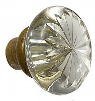 Antique Cast Bronze and Cut Glass Door Knob by P. & F. Corbin - Circa 1905
