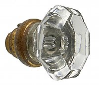 Antique Petite Glass Octagon or 8 Point Door Knob - Circa 1900