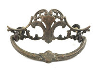 Antique Cast Brass Victorian Drawer Pull - One Available