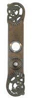 "Antique Cast Bronze ""Exeter"" Pattern Colonial Style Cylinder Lock Door Plate by P. & F. Corbin  - Circa 1892"