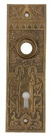 Antique Cast Bronze Aesthetic Movement Pattern Door Plate by Russell & Erwin Hardware - Circa 1880