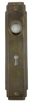 "Antique Wrought Bronze Art Deco ""Durex"" Design Door Plate by Sargent & Co. - Circa 1926"