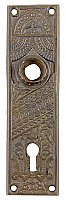 Antique Cast Bronze Door Plate By Skillman Hardware - Circa 1909