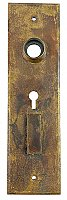 Antique Cast Bronze Door Plate By Norwalk Lock Co. - Circa 1890