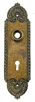 "Antique Cast Bronze ""Stanwich"" Design Door Plate By Lockwood Manufacturing - Circa 1914"