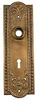 "Antique Copper Plated Wrought Brass ""Como"" Design Door Plate By P. & F. Corbin - Circa 1905"