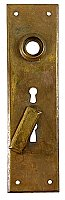 Antique Cast Bronze Double Keyhole Door Plate - Circa 1900