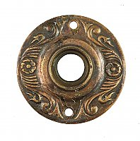 Antique Stamped Copper Aesthetic Style Door Rosette or Escutcheon