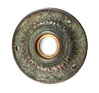 Antique Cast Bronze Door Rosette or Escutcheon
