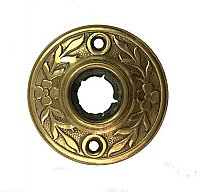 Antique Stamped Brass Aesthetic Style Door Rosette or Escutcheon