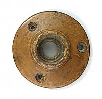 Antique Wood Door Rosette or Escutcheon