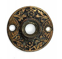 Antique Brass Plate Aesthetic Style Door Rosette or Escutcheon