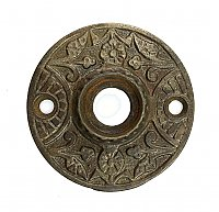 Antique Cast Iron Aesthetic Style Door Rosette or Escutcheon