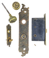 "Antique Cast Bronze Rococo ""Belfort"" Design Entry Door Set by Reading Hardware Co. - Circa 1899"