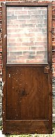 Antique Pine Exterior Door With Glass
