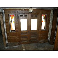 Antique Oak Exterior Doorway