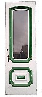 Antique Arched Glass Paned Exterior Cottage Door - Circa 1870