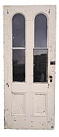 Antique Arched Glass Exterior Cottage Door - Circa 1880