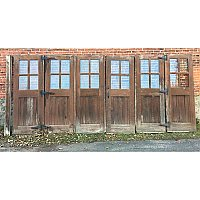 Antique Set of Fir Carriage House Doors