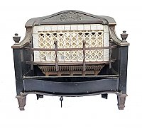 "Antique J.H. Grayson Co. ""Ray-Glo"" Gas Fireplace Heater / Insert Circa 1924"