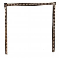 Antique Braid Design Cast Iron Fireplace Frame