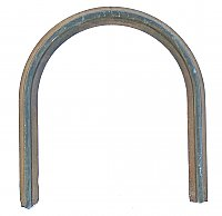 Antique Cast Iron Fireplace Frame Horseshoe Classic Arch