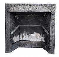 Antique Dawson Brothers Gas Fireplace Insert