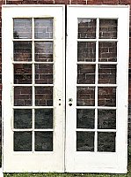 Antique Pair of Oak French Doors