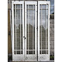 Antique Set of Tall Bi-Fold Doors
