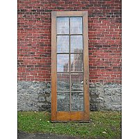 Antique Pine French Door