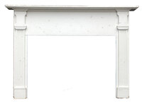 Antique Colonial Style Painted Fireplace Mantel - Circa 1950